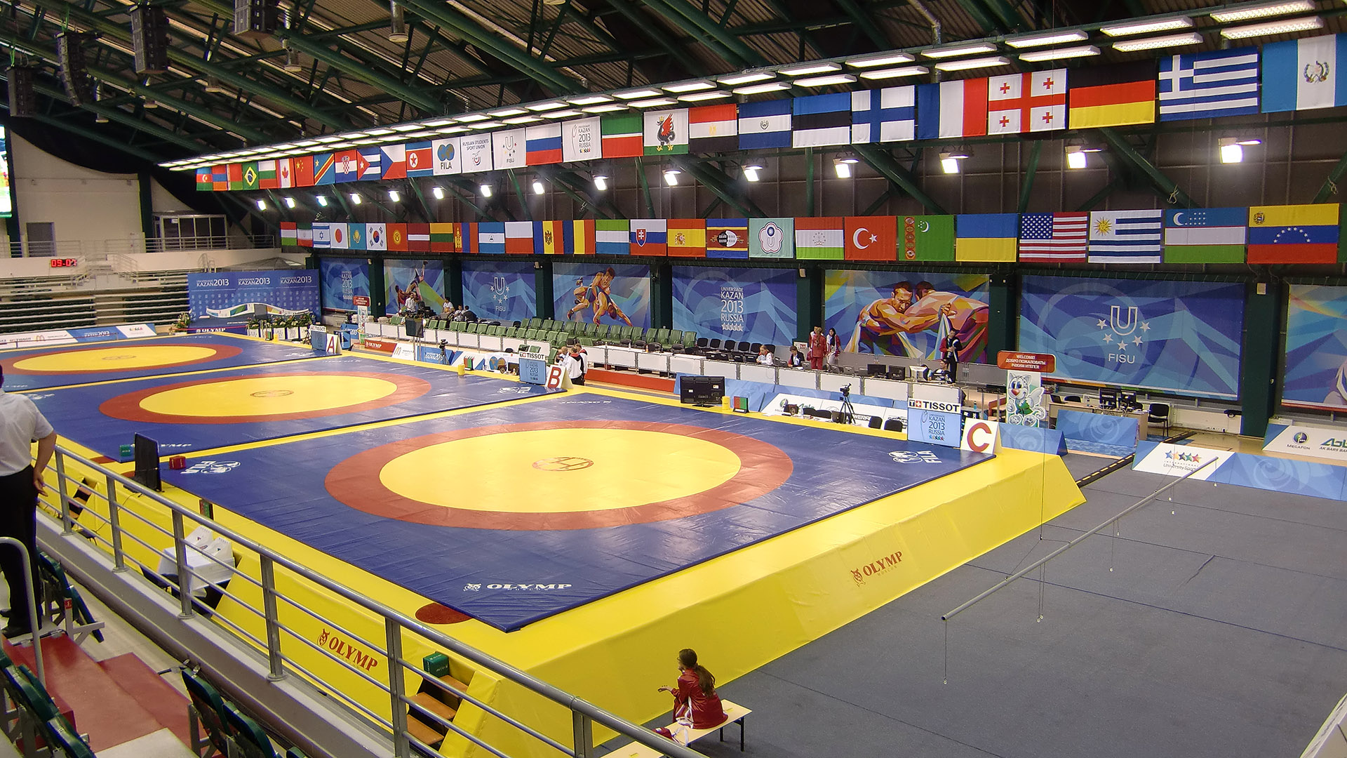 Ringer vom RSV-Rotation Greiz bei der Sommer-Universiade 2013 in Kazan