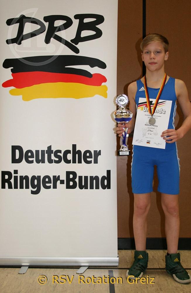 Norman Heisig erringt Silbermedaille bei deutschen Meisterschaften