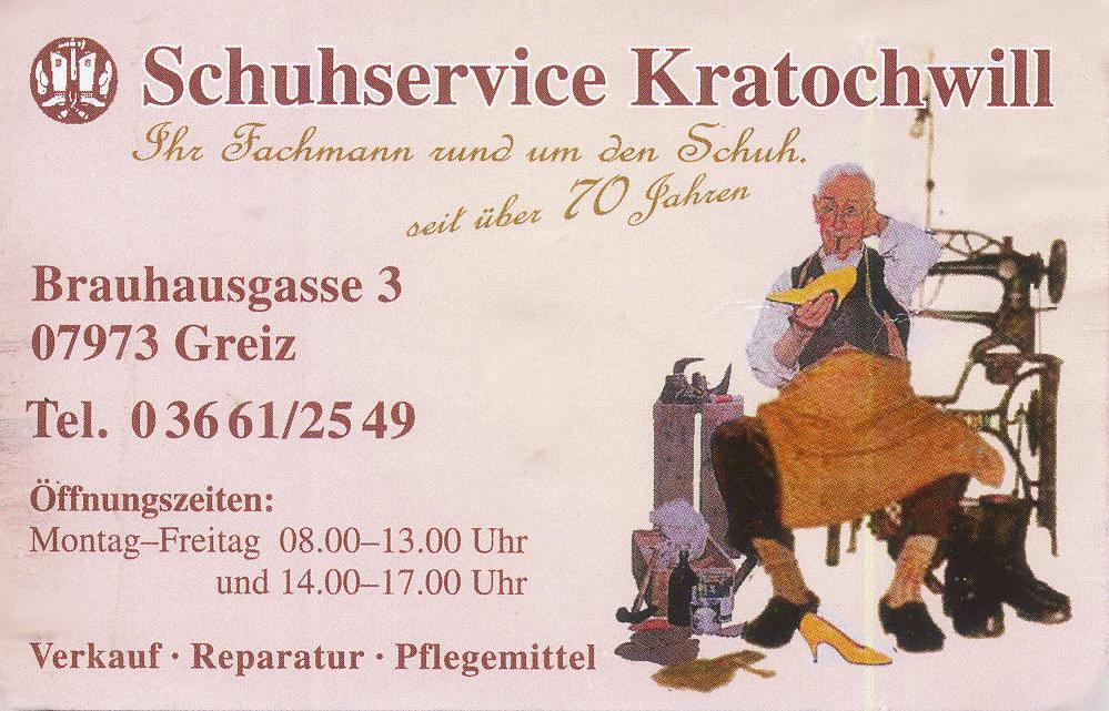 Kratochwill Schuhservice