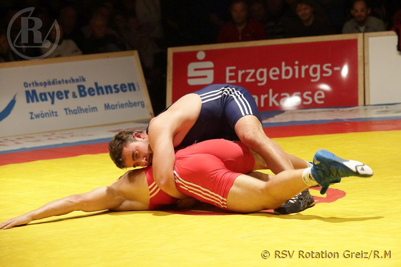 Regionalliga Mitteldeutschland: Ringerverein Thalheim gegen RSV Rotation Greiz endet 9:17