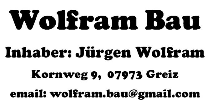 Logo Wolfram Bau, Jürgen Wolfram