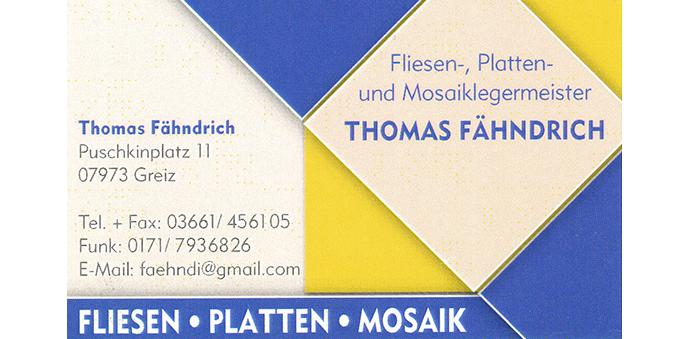 Fliesen-, Platten- und Mosaiklegemeister Thomas Fähndrich